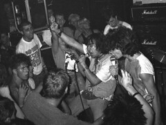 Stinky Rats, 1987 at the AJZ Homburg, Germany, by Anne Ullrich