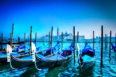 Gondolas In Piazza San Marco