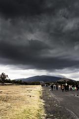 TORMENTUM (JAGMD) Tags: light sky mountain storm luz clouds canon dark landscape mexico rebel ruins pyramid teotihuacan paisaje ruinas cielo nubes tormenta pyramids thunderstorm piramides montaa piramide oscuridad t3i oscuro azteca