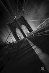 Brooklyn Bridge Web (S.D.G Photographie) Tags: city nyc newyorkcity bridge light urban bw ny newyork france building architecture brooklyn contrast photoshop dark emblem french photography lights cityscape manhattan perspective sombre brooklynbridge français bwphotography francais urbain sdg emblème bigstopper sebastiendelgrosso