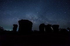 Stone Henge of Thailand with Milky way 2014 (ake1150sb) Tags: blue sky stone night thailand star midnight stonehenge astronomy landscpae milkyway nuture famousplace