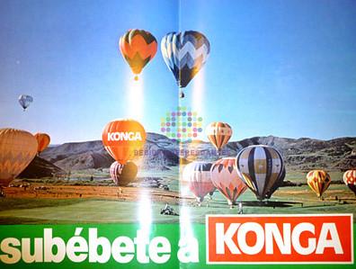 """Konga. """"Subébete a Konga"""". Años 80"""
