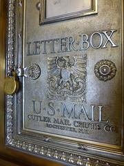 U.S. Mail Letter Box - Luhrs Tower - Phoenix, AZ_P1080425 (Wampa-One) Tags: old arizona phoenix metal skyscraper lock traditional artdeco padlock phoenixaz luhrstower usmailletterbox cutlermailchuteco {vision}:{outdoor}=0926 {vision}:{text}=0737 construted1929