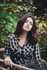 Roxanne (Gerda Ros) Tags: green girl beauty hair young conservatory greenhouse lovely glasshouse gerdaros