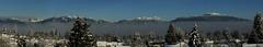 Coast mountain panorama 1 (Zorro1968) Tags: trees panorama snow mountains vancouver horizon grousemountain thelions mountseymour
