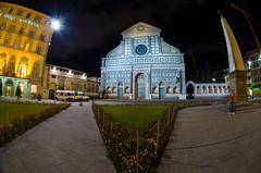 Firenze (atropo8) Tags: santa night florence long exposure shot maria fisheye firenze piazza 105 nikkor novella vision:outdoor=0848 vision:sky=0646