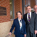 Then Chancellor Jim Woodward (right) joined Dr. Joab Thomas and his wife, Marly, in a tour of Thomas Hall.