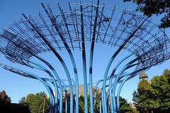 Addison - Blueprints (Drriss & Marrionn) Tags: travel blue sculpture usa dallas texas northamerica addison addisoncircle addisontx blueprintssculpture