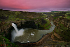 Palouse Falls Sunset - Washington (Jaykhuang) Tags: pink sunset water clouds waterfall washington northwest falls palouse jayhuangphotography