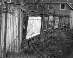 Alley Project #24 (cleershaddo) Tags: blackandwhite oregon 35mm portland alley fed alleys fedka