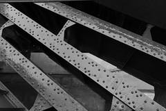 High Line Girders (ccb621) Tags: nyc newyorkcity bw newyork blackwhite steel beam girder highline rivet