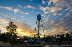 Good morning Gilbert! (Arizphotodude) Tags: arizona sky clouds sunrise nikon tokina gilbertaz goldenlight watertowerpark