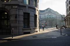 330/365 - Homage to Hopper (Spannarama) Tags: uk november light sunlight man london sunshine buildings earlymorning 365 bankofengland lothbury colemanstreet 2013