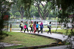 Students on campus (World Bank Photo Collection) Tags: girls students youth walking education women asia southeastasia university walk group study malaysia serdang studying selangor tertiaryeducation