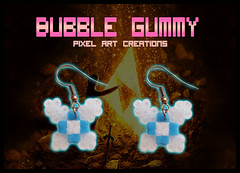 Pendientes Naavi (Bubble Gummy pixel art) Tags: art beads geek earring pixel pixelart zelda earrings legend navi hama perler pendientes 8bits thelegendofzelda hamabeads perlerbeads beadsprite naavi bubblegummy bubblegummypixelart