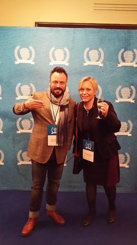 Speaker's Forum Vuoden puhuja -tapahtumassa Milla Kuosmanen ja Riku Rantala