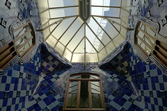 Barcelona (denismartin) Tags: espaa architecture spain ceramics stainedglass catalonia artnouveau gaudi casabatll forging antonigaud wroughtironwork catalanmodernism denismartin