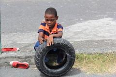 """kids Mayotte practising """"La course de pneus"""" (Rasande Tyskar) Tags: street people woman kids island islands women indianocean kinder menschen frauen mayotte indischerozean comores komoren mamoudzou grandterre petitterre"""