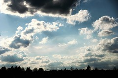Clouds Adrift. (Wilickers) Tags: sky canada nature clouds canon town afternoon shadows clear cumulus drift 60d