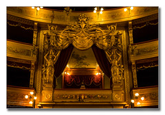 The royal box (Descended from Ding the Devil) Tags: italy gold lights indoor curtains sicily fullframe operahouse gilded palermo teatromassimo royalbox mirrorless photoborder sonya7mkii