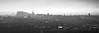 Edinburgh Skyline (ShinyPhotoScotland) Tags: camera city light urban blackandwhite panorama mist art nature monochrome weather fog composite manipulated lens landscape photography scotland haze edinburgh unitedkingdom places equipment backlit toned hdr contrejour lothian salisburycrags radicalroad haar gbr hugin digikam tonemapped olympuspenf rawconversion enfuse rawtherapee olympus1260mmf28