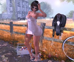 Horse Day (RoxxyPink) Tags: sf life pink horse hair blog mesh olive mandala sl nails secondlife blogging second heels kc puki redgrave maitreya slink meshhead kibitz meshbody white~widow vision} roxxypink vision}sf