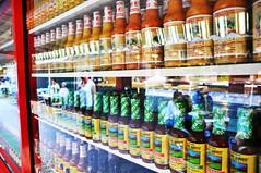 Sauces. Farmers Market. Los Angeles. USA (alba-7) Tags: usa colors losangeles nikon colours farmers market mercado organic lax salsa sauces eeuu salsas d5000