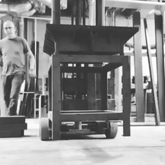 Some of the #steel arrived #bent... (AndersonAndersonArchitecture) Tags: big friend steel bent worked weight sculptor hoisted practical himself forklift jumped bumped inventive steeltube uploaded:by=flickstagram instagram:photo=9865936552647259451287363409 schoeppthorntongallery