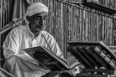 Divine (navith_k) Tags: blackandwhite monochrome festival dubai islam uae culture holy recite emirati heritagevillage
