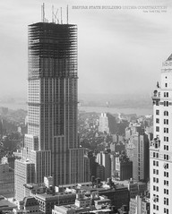 Empire State building under construction, New York. Date: 9/4/1930 (cobravictor) Tags: city nyc newyorkcity ny history classic skyline architecture landscape skyscrapers retro underconstruction oldpics midtownmanhattan bwphotos empirestatebuilding1931