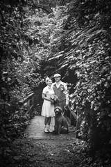 (thombe77) Tags: bridge wedding bw dog white black canon eos groom bride couple forrest paar hund 7d sw brücke hochzeit wald schwarz braut bräutigam weis