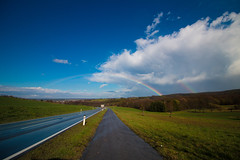 0010 (mikikkkeee) Tags: wien travel blue trees sky cloud white color green up field sunshine rain forest canon way lens landscape austria rainbow colorful afternoon pavement skylight away double clear sidewalk serene rare upcoming discover hopeful appear enthralling