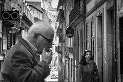Random souls on the street (Srgio Miranda) Tags: street people urban blackandwhite bw portugal photography photo streetphotography porto fujifilm oporto x100 bwstreet fujix srgiomiranda sergiomiranda x100t fujix100t