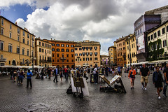 Roma - Piazza Navona (Franco Santangelo (thx for 700.000+ views)) Tags: street travel sky people urban italy rome girl weather clouds canon square photography women italia sigma teen hdr lazio eos600d