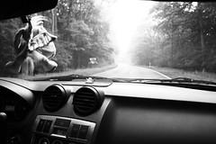 On the road (NadineLange) Tags: blackandwhite white black monochrome blackwhite monochrom schwarz sunray weis schwarzweis