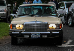 Mercedes-Benz 280 SE (Rivitography) Tags: old newyork classic car yellow canon rebel mercedes beige automobile antique connecticut adobe german mercedesbenz t3 expensive luxury lightroom newcanaan 2016 280se rivitography byk8907