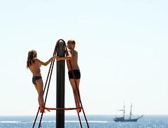 (Assun) Tags: barcelona summer mediterraneo verano estiu juny santjoan mediterrani mediterraneament vaixellalavista