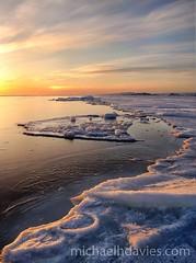 Sunset and Seal Skin (MichaelHD ( michaelhdavies.com )) Tags: sunset snow cold colour water hunting arctic h baffinisland cumberlandsound canadasarctic iceseal floeedge daviesmichael aprilarcticoceannunavutpangirtung flowedgefreezefrozenhunticemichael daviesnikkornikonoceanpangpangnirtungseasea