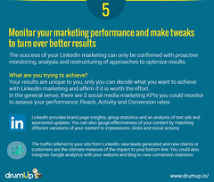 Linkedin Marketing Guide : Monitor and Analyse (Social Media & Content Curation Platform) Tags: design marketing media flat content social monitor company guide groups linkedin analytic marketingguide infographs drumup