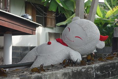 really pleased (the foreign photographer - ฝรั่งถ่) Tags: face wall thailand stuffed doll top bangkok sony smiley drying pleased khlong bangkhen thanon rx100 dscjun42016sony