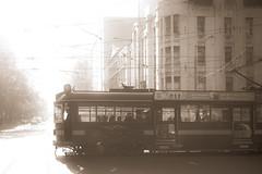Vintage Melbourne still alive (Cranamanor13) Tags: silhouette shadows transport tram australia melbourne victoria intothesun andrewwilson circletram