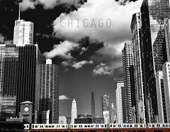 CHICAGO Architecture R (   mhrnt    photography) Tags: city sky white lake chicago black color architecture clouds train buildings river tour michigan windy el and metra riverlake