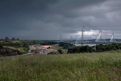 View across the Forth (gallowaydavid) Tags: forthbridges forthroadbridge queensferrycrossing forth sky clouds stormy rain