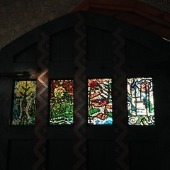 Glass mosaics (Inkysloth) Tags: architecture kent craft redhouse morris williammorris artsandcrafts preraphelite beesqueezings