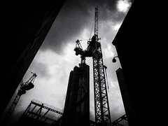 DSCF2800 (Neil Johansson LRPS) Tags: city uk light england urban blackandwhite bw white black monochrome silhouette architecture digital dark manchester photography photo noir fuji northwest cranes photograph fujifilm lowkey darkcity x30 urbanphotography greatermanchester manceinion fujifilmx30