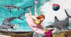 My Bubbles - Summerfest'16 (Drscythe Resident) Tags: ocean pink summer tooth shark lemon ivy sl bumper secondlife belle rowboat tetra summerfest anc flippers rc balaclava jian buoy jammin greatwhite fri thresher mako fishingnet culprit 2016 seaadventures wasabipills thesecretstore sharkini