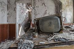 Nothing to Watch Tonight (Irishmanlost) Tags: abandoned broken tv decay room ukraine d750 waste duga chernobyl 2016 pripyat irishmanlost