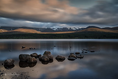 Loch Morlich, Schottland  (Explored...thank you so much!) ♥ (Claudia Bacher Photography) Tags: longexposure mountain lake nature water clouds landscape see scotland wasser heaven eveningsun outdoor natur himmel wolken berge dämmerung landschaft schottland lochmorlich langzeitbelichtung abendstimmung