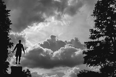 Head in the Clouds (jaminjan96) Tags: travel trees sky blackandwhite detail castle nature beautiful clouds contrast forest germany ruins europe magic perspective adventure explore heidelberg float adidas incredible epic levitate
