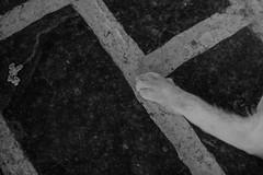 Lardos, Rodos Island (Nadialeesi) Tags: light summer blackandwhite bw sun sunlight june cat canon island eos blackwhite paw europe geometry naturallight minimal greece minimalism rodos rhodes catpaw rodi lardos isoladirodi rodosisland canoneos7d junelight